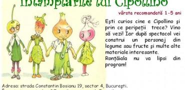 """Spectacolul-atelier ,,Întâmplările lui Cipollino"""""""