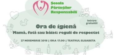 Au început înscrierile la Ora de Igienă! Seminar gratuit pentru părinții responsabili