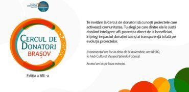 Cercul de donatori Brașov. Implică-te și tu pentru comunitate!