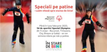"""""""Speciali pe Patine – Luăm viteză spre starea de bine""""- un program special pentru copii speciali"""